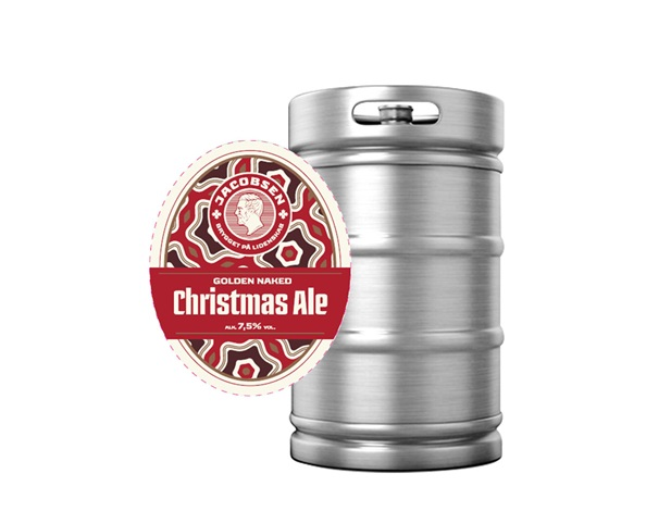 Jacobsen Golden Naked Christmas Ale Fustage 25L - NHTec